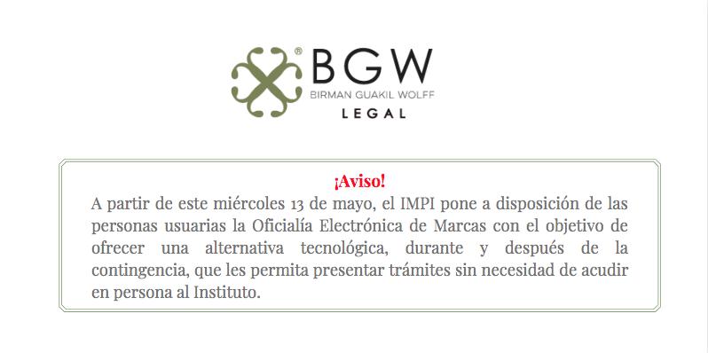 El IMPI pone a disposición de las personas usuarias la Oficialía Electrónica de Marcas.
